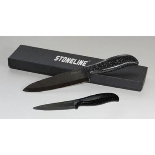 Комплект керамични супер ножове с предпазители Stoneline – 2 бр