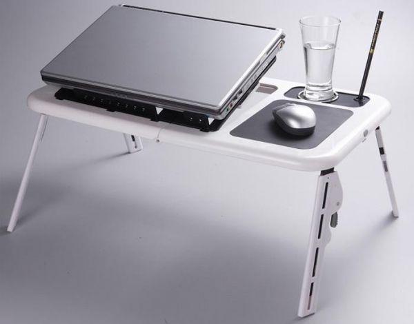 Сгъваема маса за лаптоп с вграден охладител E-table